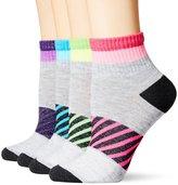 Hanes Women's X-Temp Sport Comfort 4 Pack Ankle Socks