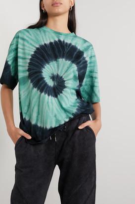 Ninety Percent Net Sustain Tie-dyed Organic Cotton-jersey T-shirt - Blue