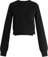 Haider Ackermann Invidia asymmetric-hem wool-blend sweater