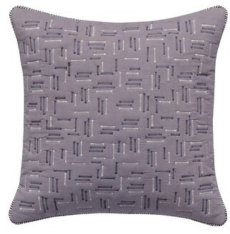 Splendid HOME Alpine Quilted Voile Throw Pillow HOME Color: Gray/Blue