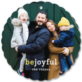Minted Be Joyful Holiday Ornament Cards
