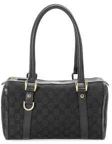 Gucci Vintage GG D-Ring Boston Canvas Handbag