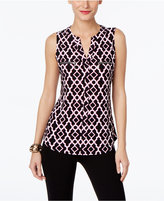 INC International Concepts Petite Printed Blouse, Only at Macy's