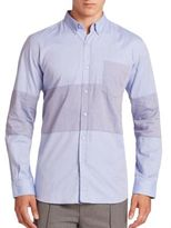 Timo Weiland Marco Middle Stripe Woven Shirt