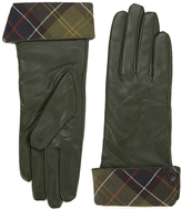 Barbour Women's Lady Jane Leather Gloves Green