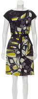 Lela Rose Geometric Print Knee-Length Dress w/ Tags