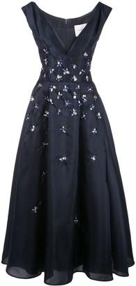 Carolina Herrera deep V-neck gown