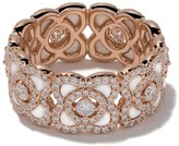 De Beers 18kt rose gold Enchanted Lotus Mother-of-Pearl and diamond band