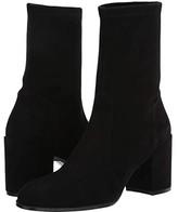 Stuart Weitzman Tieland Bootie (Black Suede Stretch) Women's Boots
