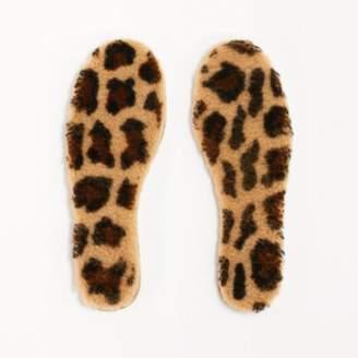 Toasties - Multi Coloured Merino Wool Leopard Boot Soles - merino wool | Multicolour