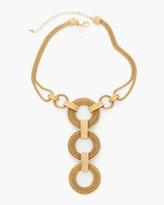 Chico's Hayden Triple-Pendant Necklace