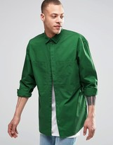 Weekday Blood Regular Fit Shirt 2 Pocket in Green