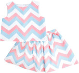 Marmellata Marmelatta Sleeveless Chevron Top and Skirt Set - Preschool Girls 4-6x
