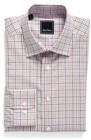mens david donahue regular fit check dress shirt