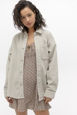 BDG Chunky Corduroy Ivory Shirt Jacket - Beige XS at Urban Outfitters