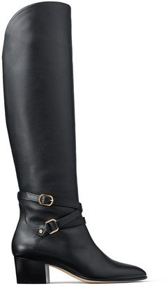 Jimmy Choo HUXLIE 45 Black Smooth Leather Huxlie Boots