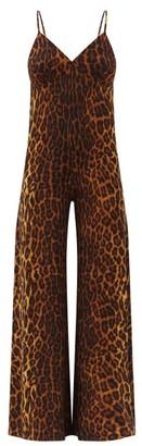 Norma Kamali Leopard-print Jersey Jumpsuit - Animal