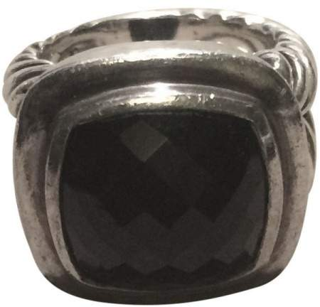 David Yurman Sterling Silver & Onyx Ring Size 6.5