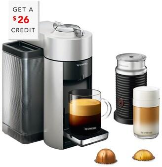 De'Longhi Delonghi Nespresso Vertuo Coffee & Espresso Single-Serve Machine & Aeroccino Milk Frother