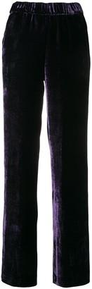 P.A.R.O.S.H. side stripe velvet trousers