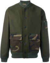 Hydrogen patch pocket bomber jacket