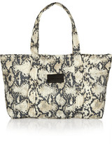 See by Chloé Peony python-print quilted nylon tote