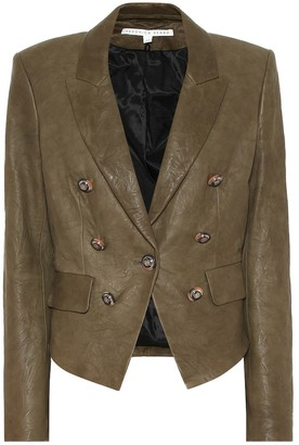 Veronica Beard Cooke Dickey leather blazer