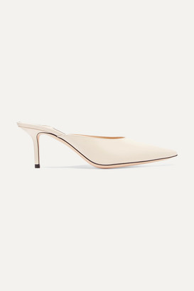 Jimmy Choo Rav 65 Leather Mules - Ivory