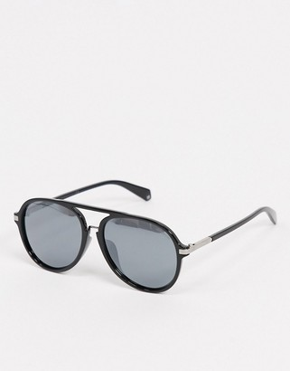 Polaroid Polariod aviator sunglasses in black