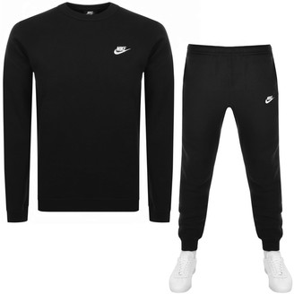 Nike Crew Neck Club Tracksuit Black