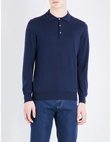 Canali Knitted Polo Jumper