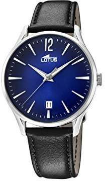 Lotus Watches Mens Analogue Classic Quartz Watch with Leather Strap 18402/3