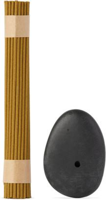 Binu Binu Stone Incense Burner and Hydrangea Tea Incense Set
