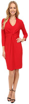 NYDJ Christa Knotted Stretch Crepe Dress
