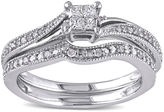 JCPenney MODERN BRIDE 1/4 CT. T.W. Diamond 10K White Gold Multi-Top Bridal Ring Set