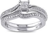 JCPenney MODERN BRIDE 1/4 CT. T.W. Diamond 10K White Gold Multi-Top Bridal Ring Set