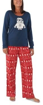 Munki Munki Matching Women's Holiday Minions Family Pajama Set