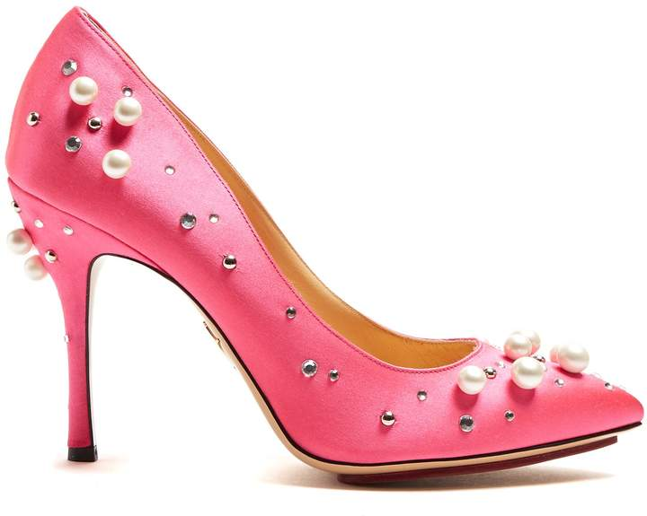 Charlotte Olympia Bacall crystal-embellished stiletto pumps
