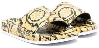 Versace Filigree-Print Sandals