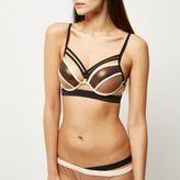 River Island Womens RI Resort bronze strap push-up bikini top