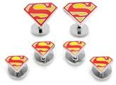 Cufflinks Inc. Men's Cufflinks, Inc. 'Superman Shield' Cuff Links & Shirt Stud Set
