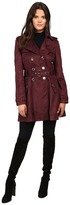 Jessica Simpson Sueded Rain Trench with Double Breasted Buttons Women's Coat