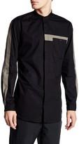 Lindbergh Colorblock Long Sleeve Slim Fit Shirt