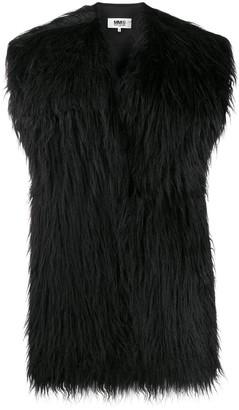 MM6 MAISON MARGIELA Furry Tied Back Scarf