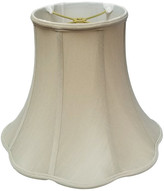 BEIGE Royal Designs, Inc. Royal Designs Bottom Outside Scallop Bell Lamp Shade, Beige, 5x10x8.25