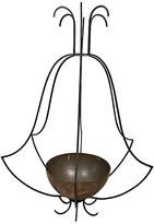 One Kings Lane Vintage Large Iron and Copper Hanging Planter - Von Meyer Ltd. - black/copper