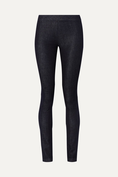 The Row Stratton Stretch-denim Leggings - Black
