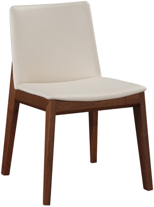 Moe's Home Collection Set Of 2 Deco Dining Chair White
