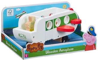 Peppa Pig Peppa's Wooden Play Aeroplane & Figure