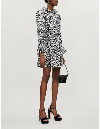 Batsheva Prairie leopard-print velvet mini dress